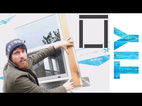 How to Install Wooden Window Trim on a Tiny House