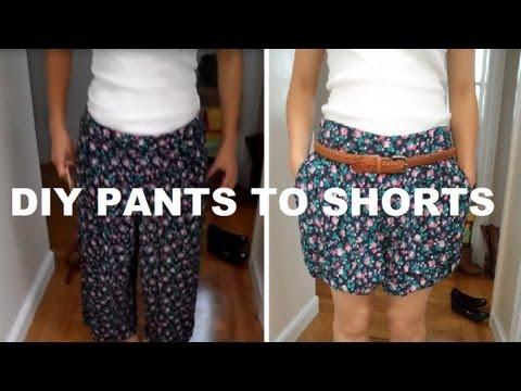 DIY: Pants to Shorts (No Sewing)
