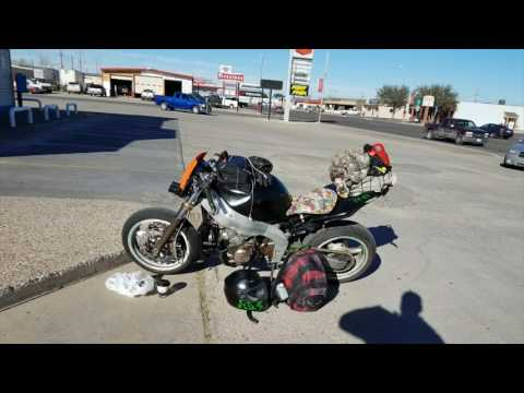 Road trip across America on a motorcycle
