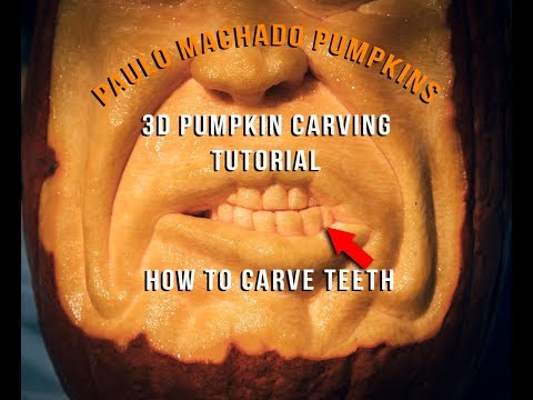 3D Pumpkin Carving - How To Carve Teeth Tutorial