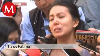 Tía de Fátima reclama falta de atención de las autoridades