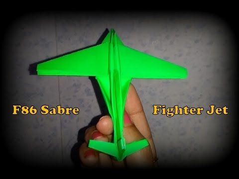 How to make paper plane model of F86 Sabre Fighter jet aircraft.