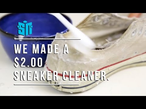 We made a $2.00 sneaker cleaner