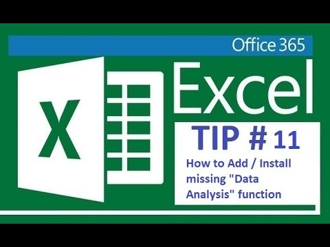 Excel 365 - Adding or Installing Data Analysis function