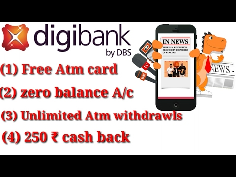 Digibank: Free ATM card + 250₹ cashback