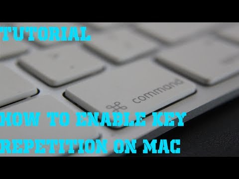 How to enable key repetition on mac