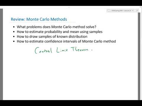 Review   Monte Carlo Methods and Optimization and statistical learning