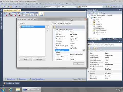 How to create Internet Explorer add-on in Visual Studio (C#, VB.NET)
