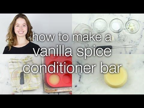 How to Make a Vanilla Spice Conditioner Bar