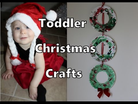 TODDLER CHRISTMAS CRAFT #1: Paper Plate Wreaths