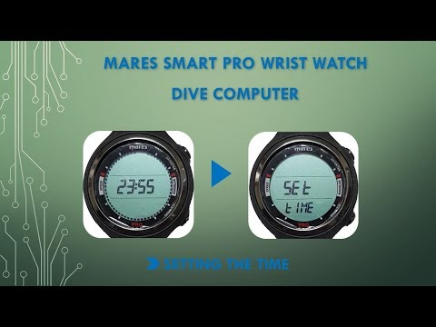 Mares Smart Pro Dive computer : Setting the Time