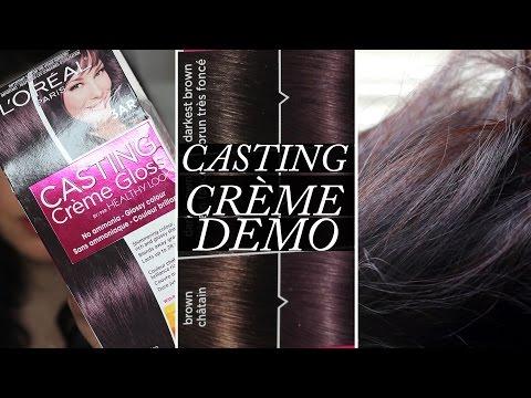 L'Oreal Casting Creme Gloss Demo on Dark Hair