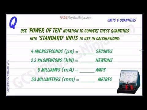 Physics Prefixes Questions - Powers of Ten - GCSE Physics