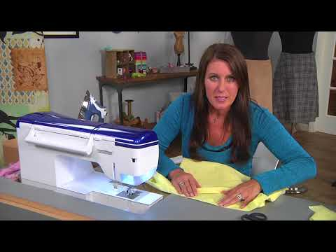 Putting in a waistband and hems for A-line skirts on It's Sew Easy with Angela Wolf (1501-2)
