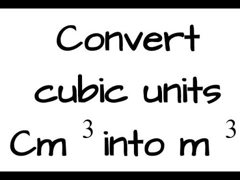 convert cubic units cm^3 to m^3