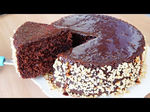 Sponge Cake without Oven || Easy Fast Soft Chocolate cake || w/ Eng. Subtitles
