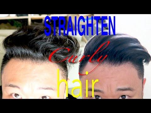 Curly Hair to Straight -  Mens Hair Tutorial