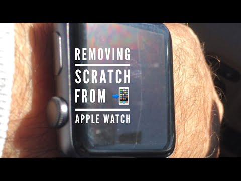 REMOVING Screen Scratch on Apple Watch ⌚️
