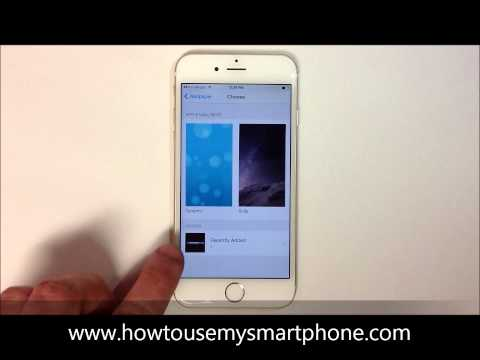 How to Change your Wallpaper - iPhone 6