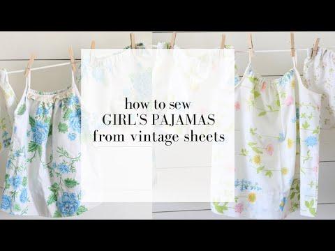 DIY Pajamas from Vintage Sheets