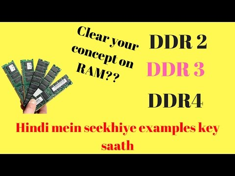 What is RAM? Difference between DDR2 Vs DDR3 Vs DDR4 [Hindi]