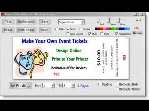 Easy Ticket Creator Software
