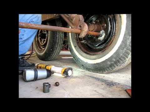 Removing rusted stripped lug nuts with a welder