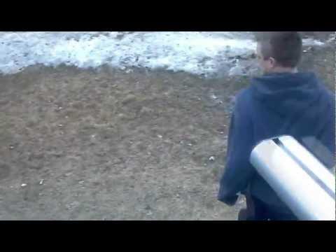 braking guitar over my back