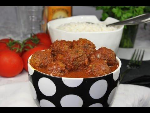 How to make Kofta bil dema-a - fun to make with kids!  Meatballs in tomato sauce   كفتة بالدمعة
