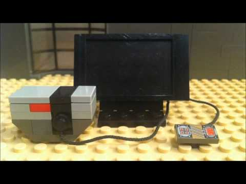How to Build a LEGO TV in Stop Motion: LEGO MOC