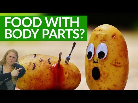 Crazy English: FOODS that have BODY PARTS?