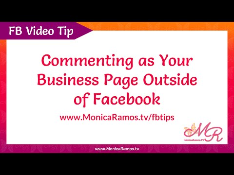 Comment As Your Facebook Business Page Whenever Possible