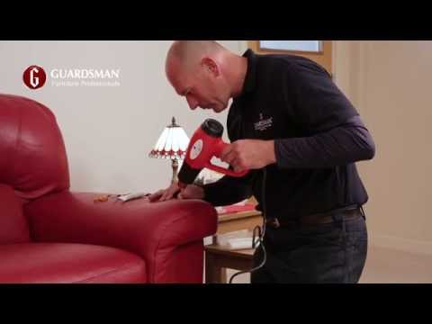 How we repair a tear in a leather sofa - Guardsman In-Home Care & Repair