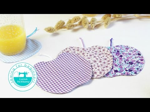 Upcycle leftover fabric scraps: make coasters