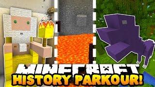 Minecraft PARKOUR THROUGH HISTORY! (Hour Long Map!) w/PrestonPlayz, Woofless & CampingRusher