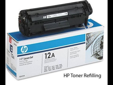 How To Refill 12A Toner Cartridge