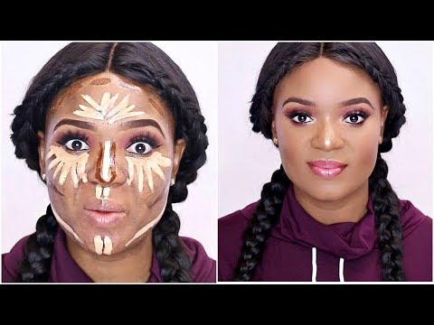 REVERSE BASE! CONTOUR & HIGHLIGHT BEFORE FOUNDATION + $7 CONCEALER TEST | OMABELLETV