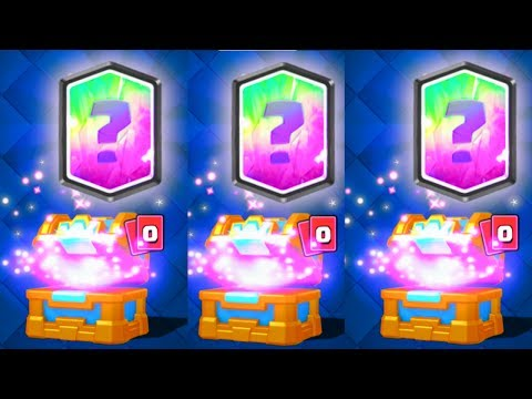 TRIPLE FREE LEGENDARY CARD UNLOCKED FROM CHESTS | Clash Royale LEGENDARY CARD DROP RATES INCREASED?