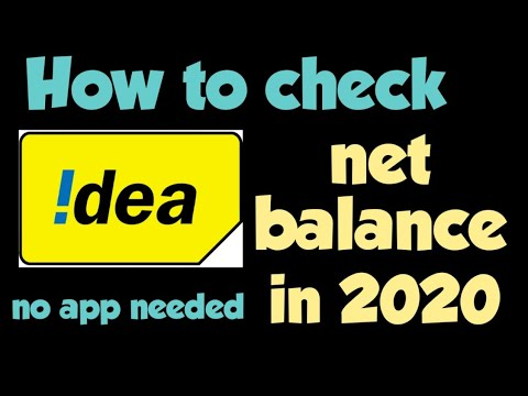 How to check Idea internet balance.
