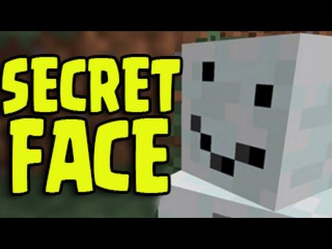 Minecraft Pocket Edition - SECRET SNOW GOLEM FACE! (Funny Hidden Feature)