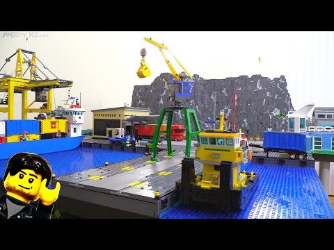 LEGO city update: New harbor building, taller hill, moved warehouse Feb. 9, 2018