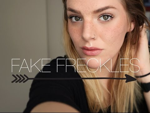 HOW TO : FAKE FRECKLES