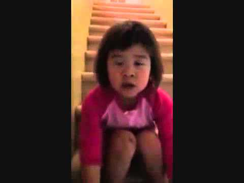 Cute little girl tells her divorced mum how to talk with her daddy