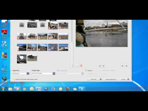Import digital photos from camera to computer with Picasa