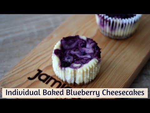 Individual Baked Blueberry Cheesecakes - Ridiculously Easy!!!