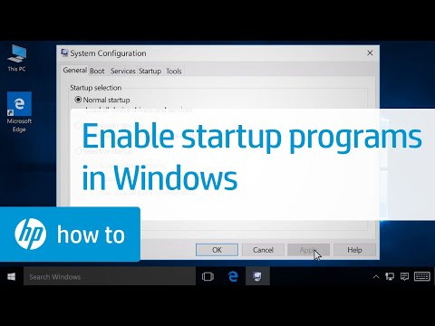 Enabling Startup Programs in Windows