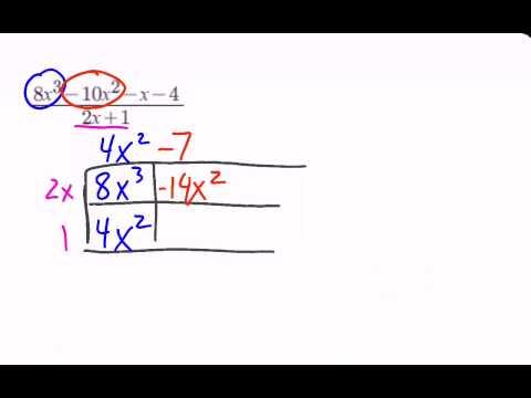 Dividing Polynomials Box Method
