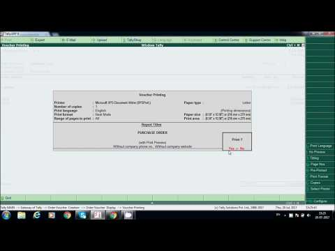 PURCHASE ORDER PROCESSING IN TALLY ERP.9 || GST Purchase invoice Posting