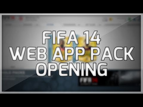 FIFA 14 Ultimate Team Web App Pack Opening | My First Packs
