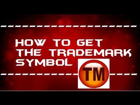 How to get trade mark symbol